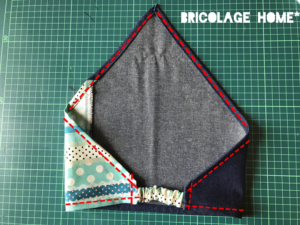 デニム生地の三角巾の作り方