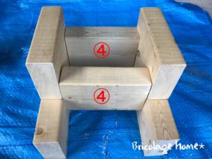 2×4で作る踏み台