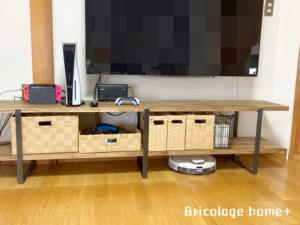 アカシア集成材で作るアイアンテレビボード